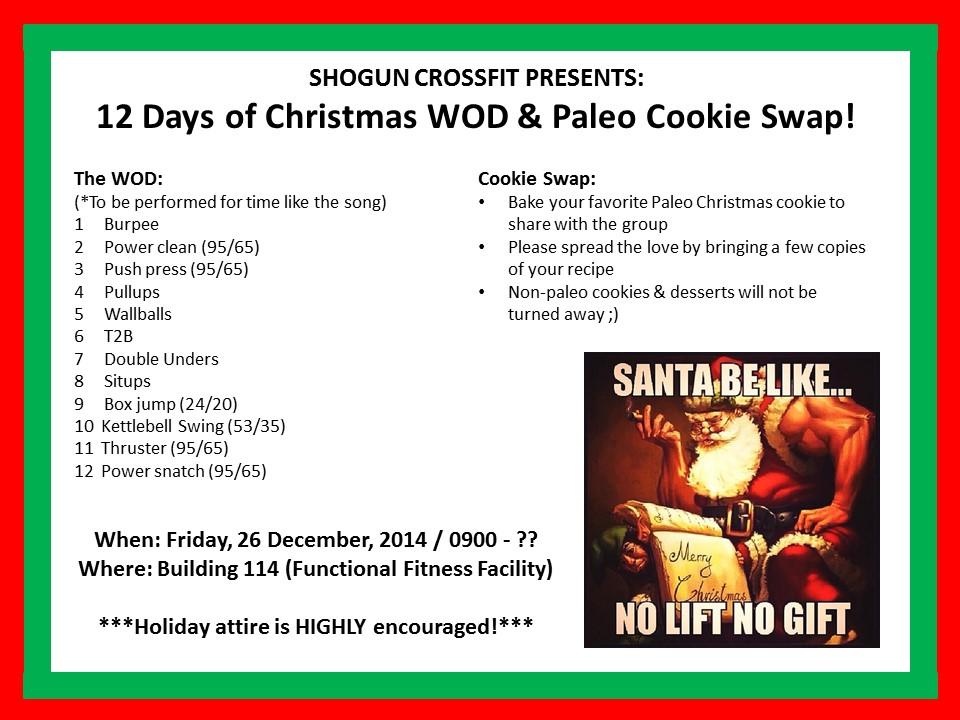 12 Days Of Christmas Wod.12 Days Of Christmas Wod Libridacqua