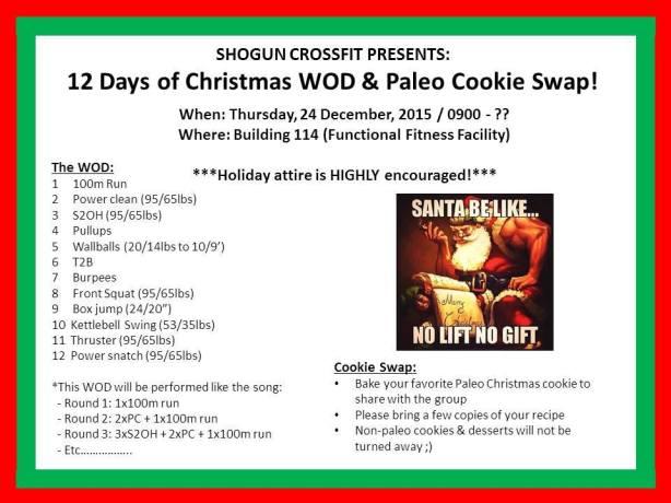 12 Days of Christmas WOD 2015